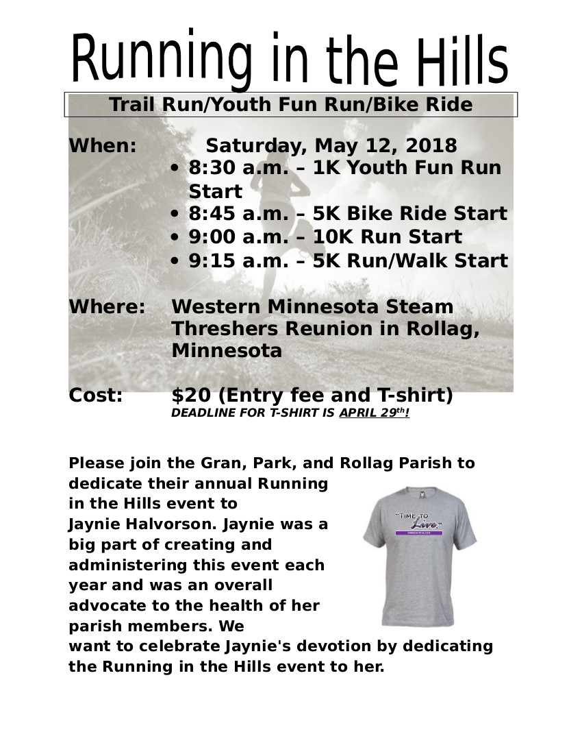 2018 Fun Run Flyer